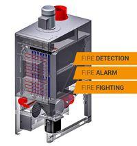 Gasilna naprava z napravo za hitro odpiranje