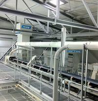 Filtersystem inkl. Rohrleitung  in der SiO2 Aufbereitung